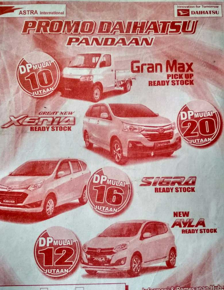 Promo Daihatsu By Rendy